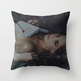 All That You've Left Behind - Girl with the Broken Heart Stars and Female Form portrait Throw Pillow