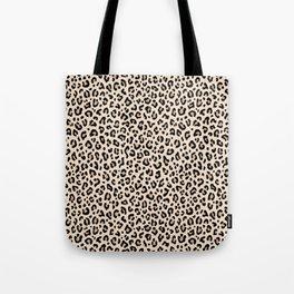 BLACK and WHITE LEOPARD PRINT – Ecru | Collection : Leopard spots – Punk Rock Animal Prints. Tote Bag