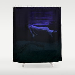 Rising To The Top : Deep Blue Water Photograph Shower Curtain