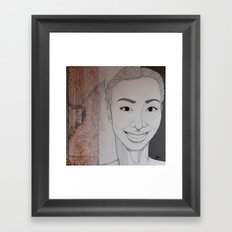 Yearning to know why we're here Framed Art Print