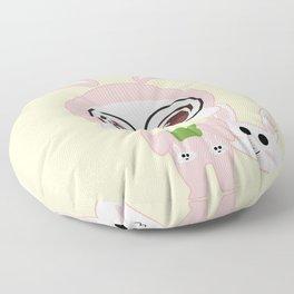 Chibi selfie Floor Pillow