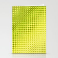 lime green Stationery Cards featuring Pattern lime green by Christine baessler