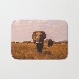Elephant Safari (Color) Bath Mat