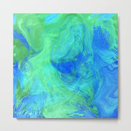 Abstract Blue and Green 1057 Metal Print