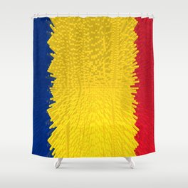 Extruded flag of Romania Shower Curtain