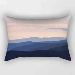 Pastel Sunset Over the Mountains Rectangular Pillow