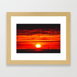 Isle of Anglesey Windmill Sunset over Irish Sea Framed Art Print