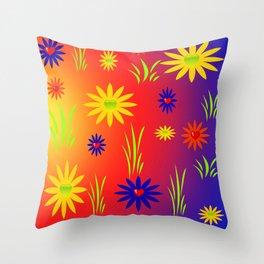 Flowertots Throw Pillow