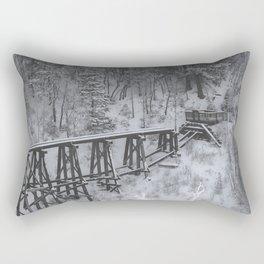 abandoned mountation railway Rectangular Pillow