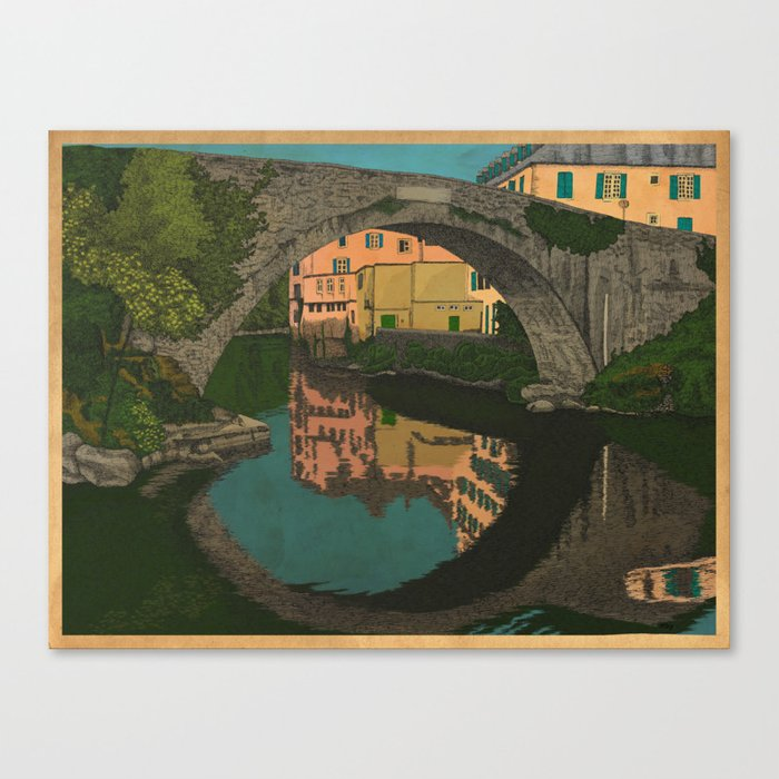 The River Canvas Print