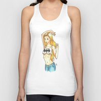 boobs Tank Tops featuring Bat Boobs by Hayley Porter