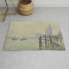 Claude Monet - The Thames Below Westminster Rug