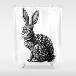 Ornate Rabbit Shower Curtain