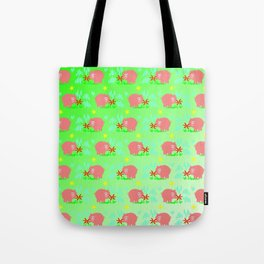Pigs in clover Tote Bag