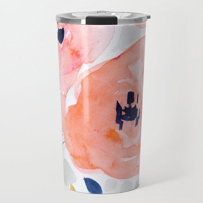 Genevieve Floral Travel Mug