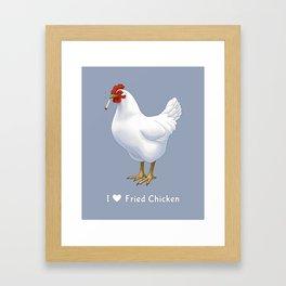 Funny Fried Chicken Pot Smoking White Hen Framed Art Print