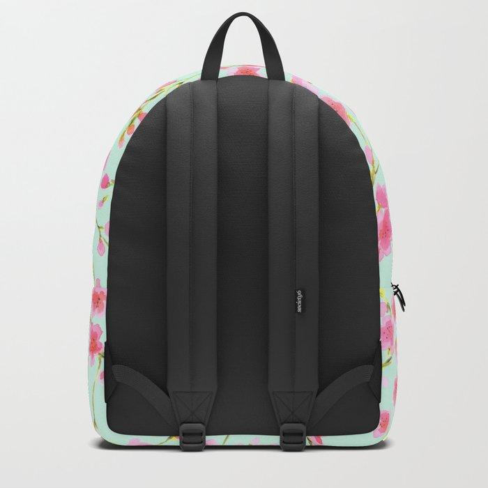 Cherry Blossom Pink Mint (for Mackenzie) Backpack