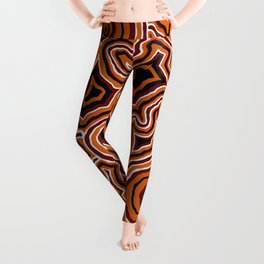Authentic Aboriginal Artwork - Pathways Leggings