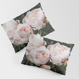 Flower Photography   Peonies Cluster   Blush Pink Floral   Peony Pillow Sham