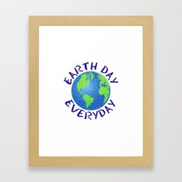 Colorful Earth Day Everyday Framed Art Print