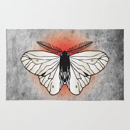 White butterfly Rug