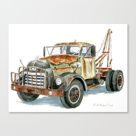 Old GMC Wrecker Canvas Print