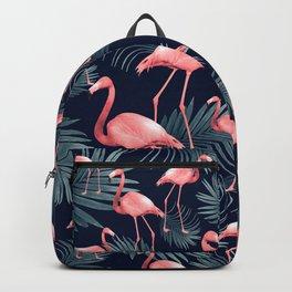 Summer Flamingo Palm Night Vibes #1 #tropical #decor #art #society6 Backpack