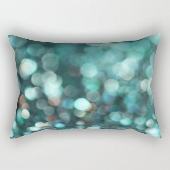 MERMAID GLITTER EMERALD Rectangular Pillow
