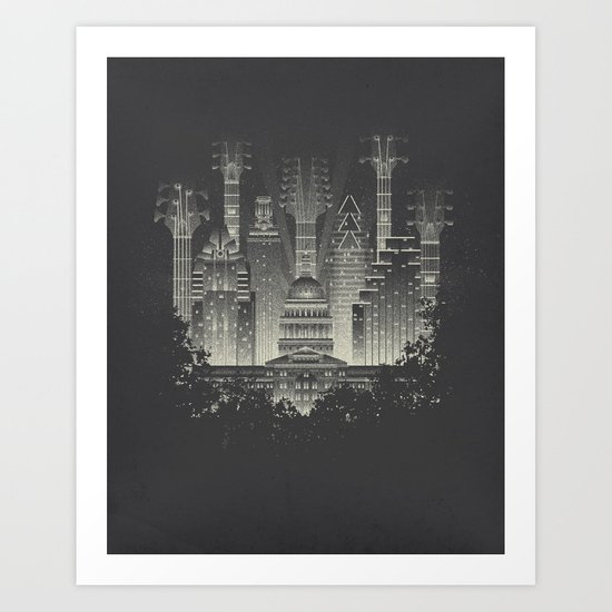 Live Music Capital Art Print
