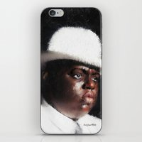 biggie smalls iPhone & iPod Skins featuring Biggie Smalls by André Joseph Martin