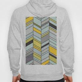 Colorful Concrete Chevron Pattern - Yellow, Blue, Grey Hoody