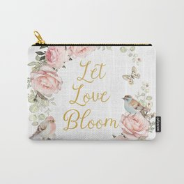 Let love bloom Carry-All Pouch