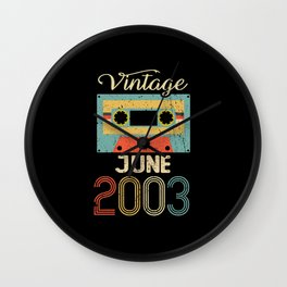 Vintage June 2003 18th Birthday 18 Year Gift Wall Clock