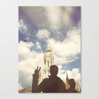 budapest Canvas Prints featuring Budapest by BriAnneWills