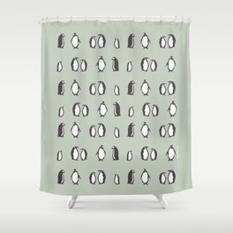 Lots of Penguins Shower Curtain
