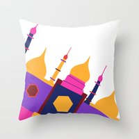 india Throw Pillows featuring INDIA by Anne