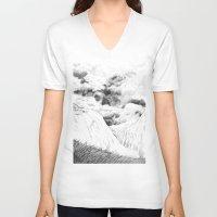 return V-neck T-shirts featuring Return by vorone