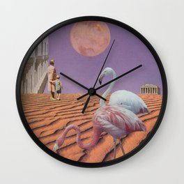 In the shadow of the blushing moon Wall Clock