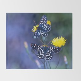 The Checkerspot Couple Throw Blanket