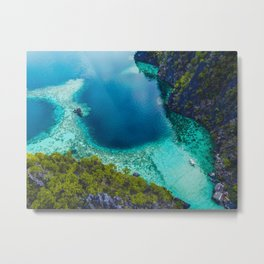 Turquoise and blue Metal Print