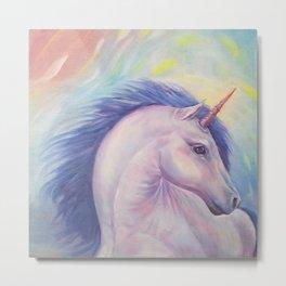 Purple Unicorn Dream Metal Print