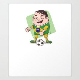 Brazil Soccer Floss Like A Boss Futbol Football  Art Print