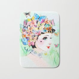 Thoughts A-Flutter Bath Mat