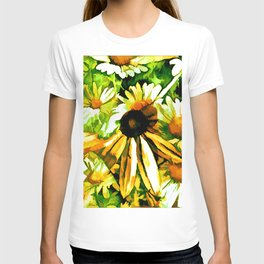 Black Eye Susan In The Midst Of Daisies T-shirt