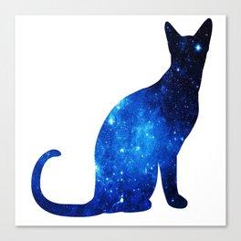 Blue univerCAT Canvas Print