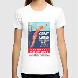1937 Great Lakes Exposition Advertising Poster T-shirt