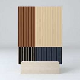 Color Block Line Abstract I Mini Art Print