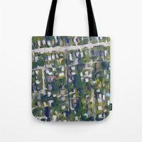 washington dc Tote Bags featuring Washington DC  by Sorogon Earth Art
