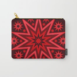 Fiery Red Flashing Fireworks Mandela Stars Carry-All Pouch