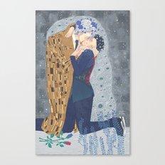 Kiss on Ice Canvas Print
